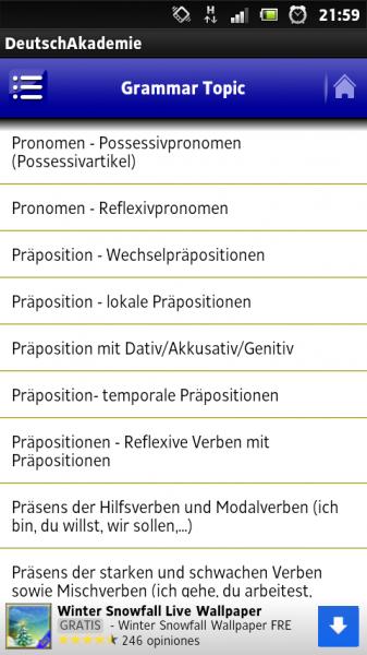 Android Deutschkurs Gratis