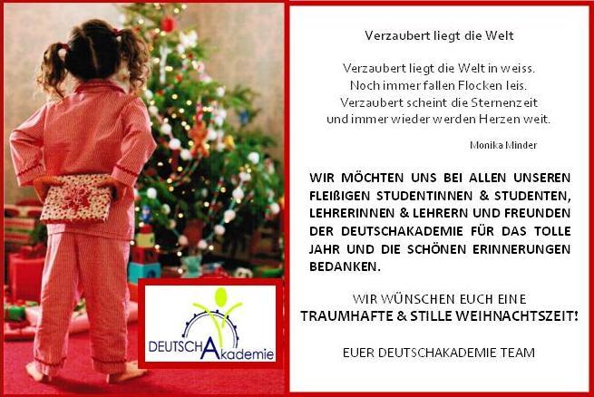 weihnachtswunsch deutschkurs blog wien