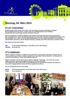 FAsching in der DeutschAkademie