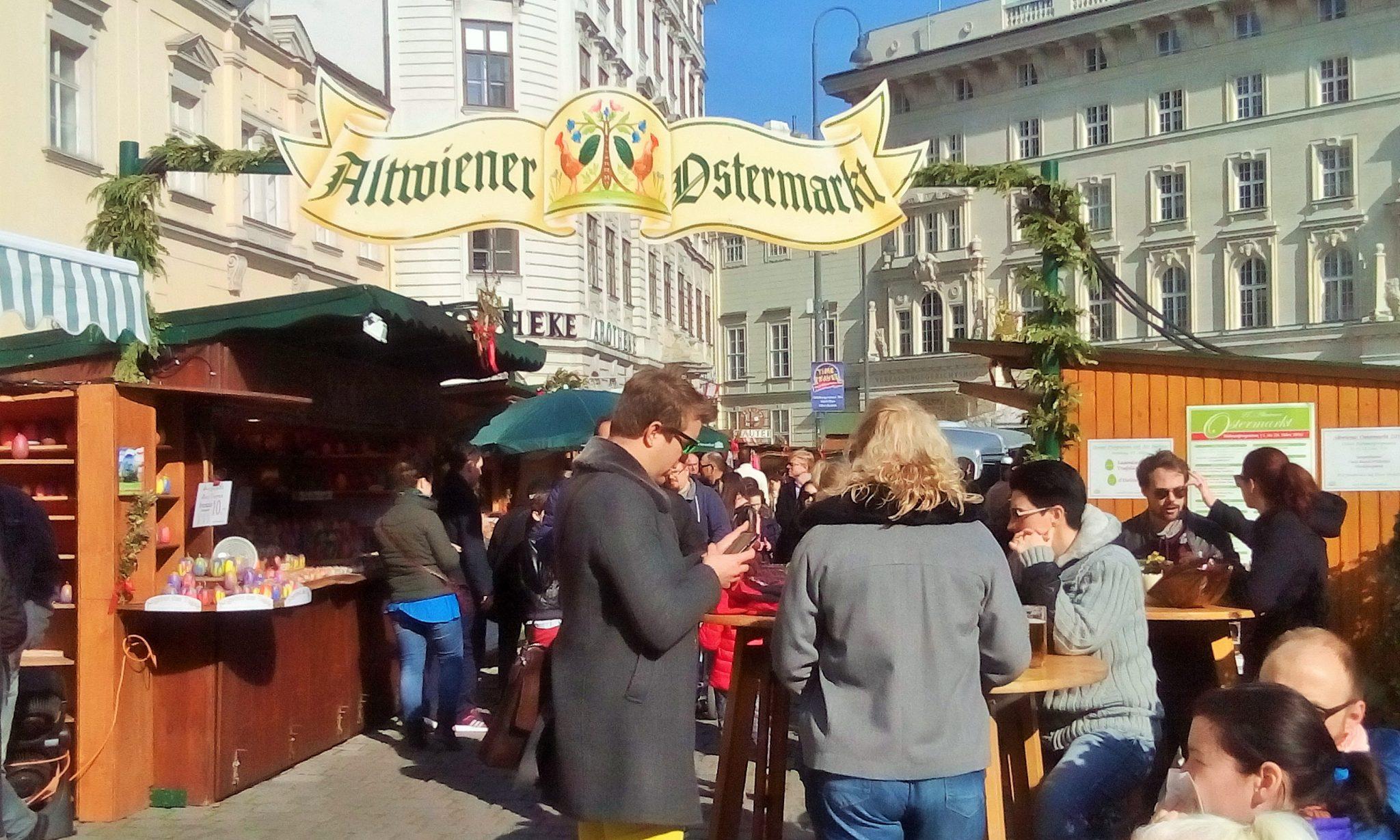 Altwiener Ostermarktの様子